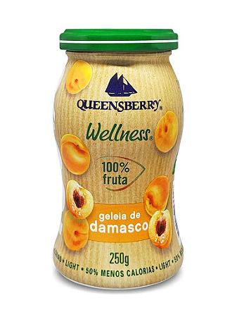 Geleia de damasco 100% fruta Quennsberry 250g