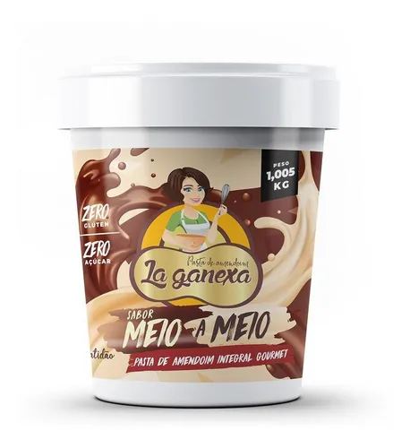 Pasta de amendoim meio a meio La Ganexa 450g