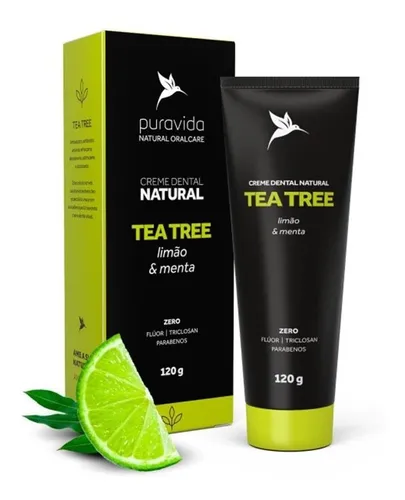 Creme dental Tea Tree Pura Vida 120g