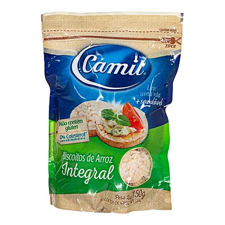 Biscoito de arroz integral Camil 150g