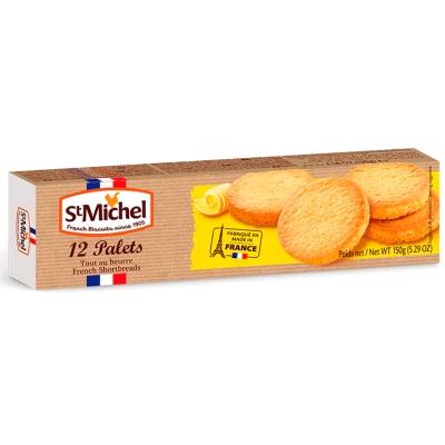 Biscoito frances amenteigado 12 paletes St Michel 150g