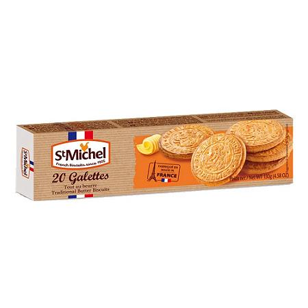 Biscoito cookies amanteigado 20 galettes St Michel 130g