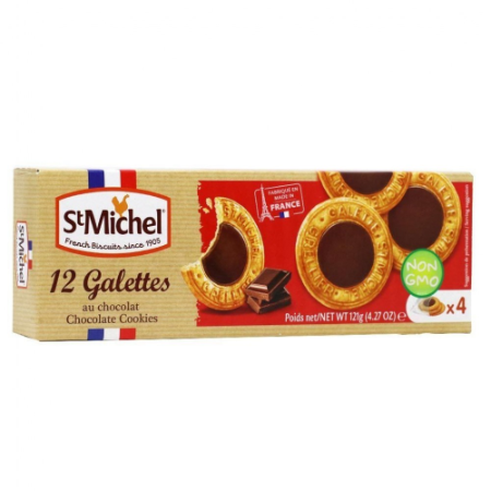 Biscoito cookies com chocolate St Michel 121g
