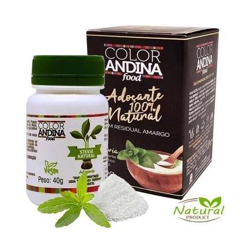 Adoçante natural Stevia em po Color Andina 40g