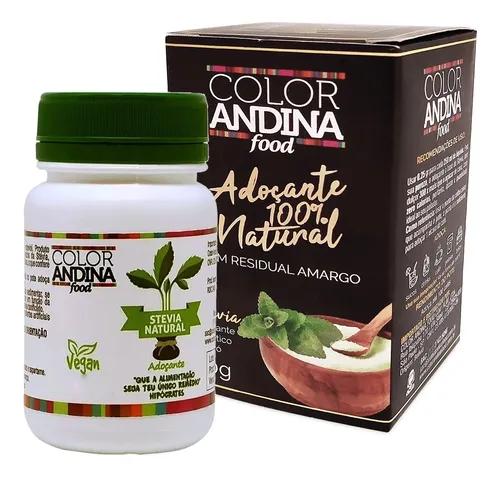 Adoçante natural Stevia em po Color Andina 20g