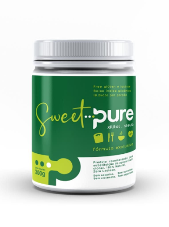 Adoçante xilitol e stevis sweet pure Pure 300g