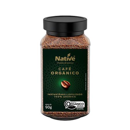 Cafe soluvel liofilizado organico native 90g