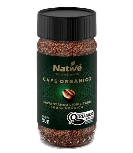 Cafe soluvel liofilizado organico native 50g