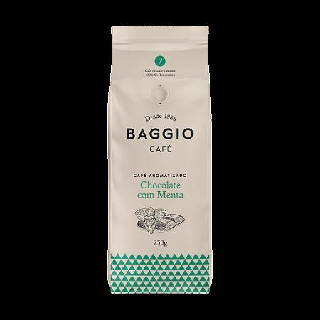 Cafe aromatizado torrado e moido chocolate e menta Baggio 250g