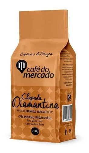 Cafe torrado em grãos chapada diamantina Cafe do Mercado 250g