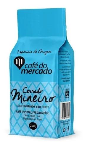 Cafe torrado em grãos cerrado mineiro Cafe do Mercado 250g