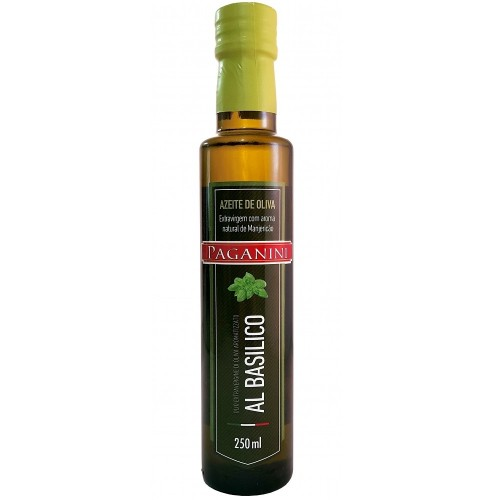 Azeite extra virgem com aroma manjericão Paganini 250ml