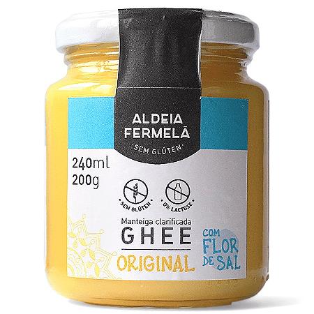 Manteiga ghee com flor de sal Aldeia Fermela 200g