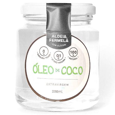 Oleo de coco extra virgem aldeia fermela 200ml
