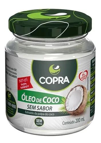 Oleo de coco sem sabor Copra 200ml