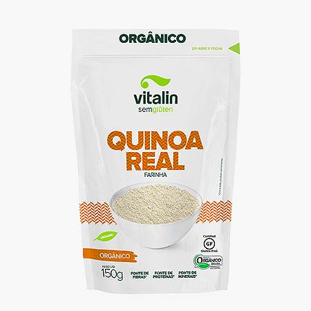 Farinha de quinoa real organica sem gluten Vitalin 150g