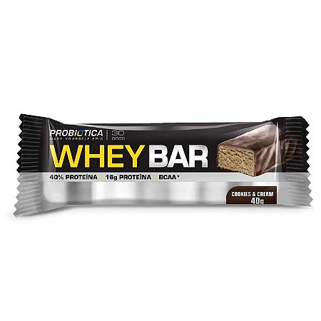 Wheybar frutas cookies & cream Probiotica 40g