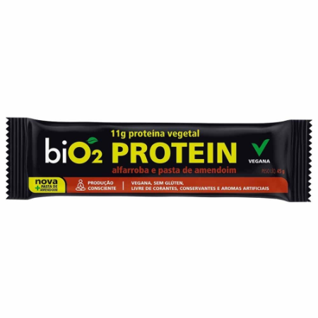Barra proteina alfarroba e pasta de amendoim Bio2 45g