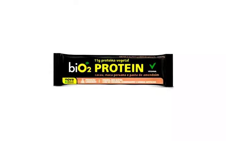 Barra proteina cacau, maca peruana e  pasta de amendoim Bio2 45g