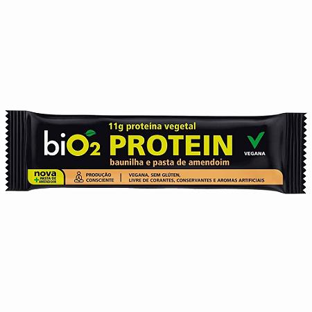 Barra proteina baunilha e  pasta de amendoim Bio2 45g