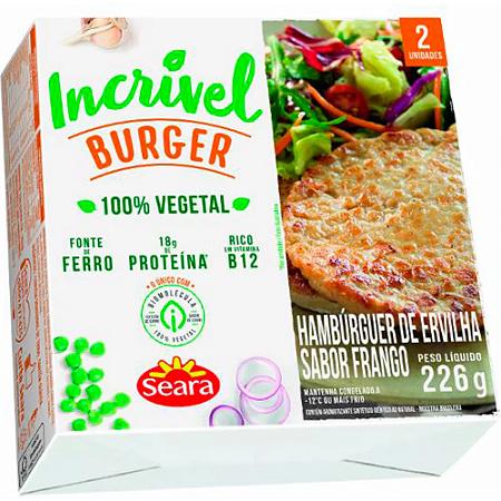 Hamburguer vegetal sabor frango Incrivel Seara 226g