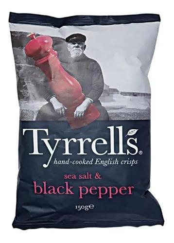 Batata frita com sal marinho e pimenta reino Tyreells 150g