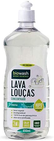 Lava louças concentrado menta hipo alergenico Biowash 650ml
