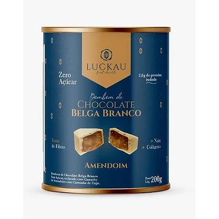 Bombom de chocolate branco belga recheado com amendoim 200g