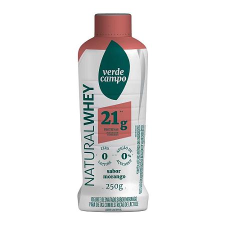 Iogurte natural whey morango 21g Verde Campo 250g