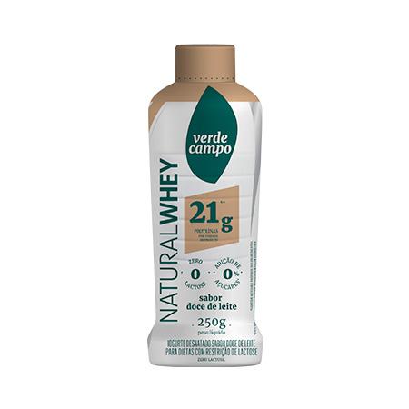 Iogurte natural whey doce de leite 21g Verde Campo 250g