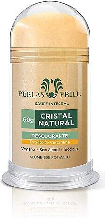 Desodorante cristal natural extrato de curcumina Perlas Prill 60g