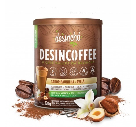 Desincoffee baunilha e avelã Desincha 220g