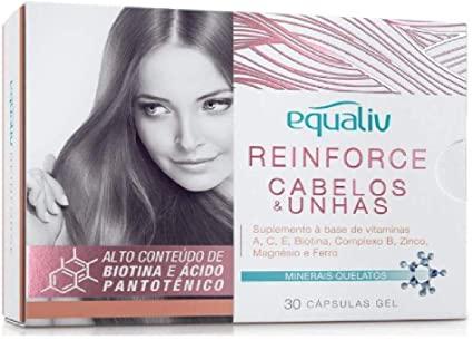 Reinforce cabelos e unhas Equaliv 30 capsulas