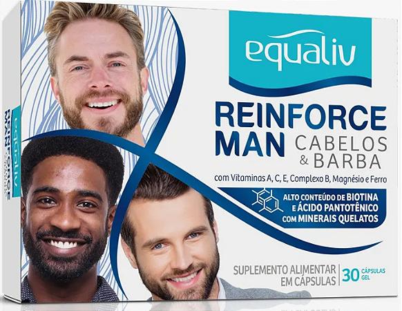 Reinforce man cabelos e barba Equaliv 30 capsulas