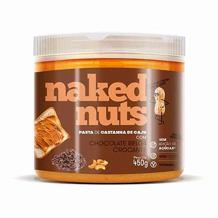 Pasta castanha de caju com chocolate belga crocante Naked Nuts 450g