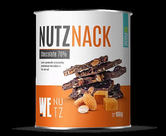 Chocolate nutznack chocolate 70% com caramelo crocante Wenutz 160g