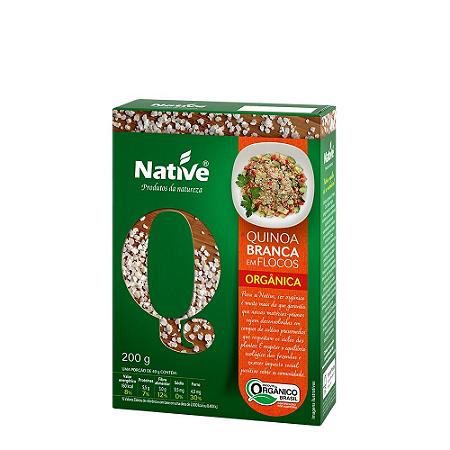 Quinoa branca em flocos organica Native