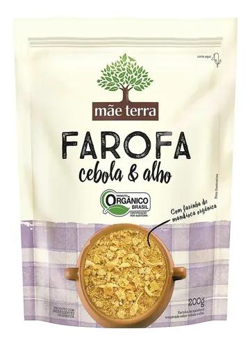FAROFA DE CEBOLA E ALHO ORGÂNICO MÃE TERRA 200G