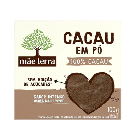 CACAU EM PÓ 100% MÃE TERRA 100G