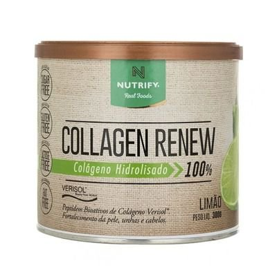 COLAGEN RENEW - Colágeno hidrolisado sabor Limão - NUTRIFY 300g
