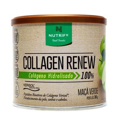 COLAGEN RENEW - Colágeno hidrolisado sabor Maçã Verde - NUTRIFY 300g