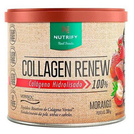 COLAGEN RENEW - Colágeno hidrolisado sabor Morango - NUTRIFY 300g