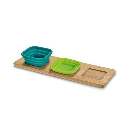 PICKLED. Base de mesa com 3 potes Personalizado