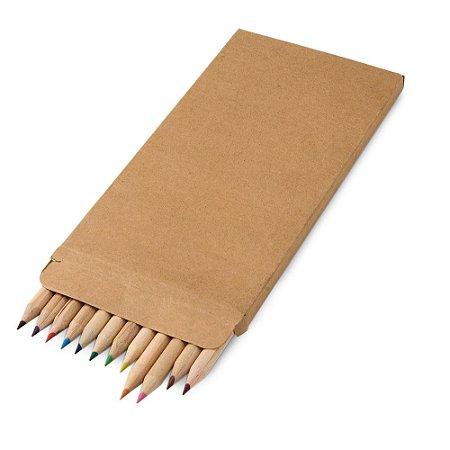 Caixa de cartão com 12 lápis de cor Personalizado