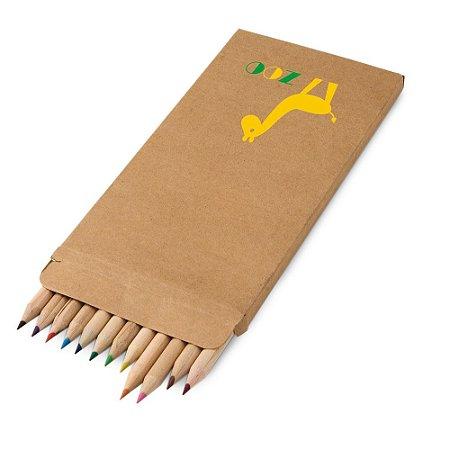 CROCO. Caixa de cartão com 12 lápis de cor Personalizado