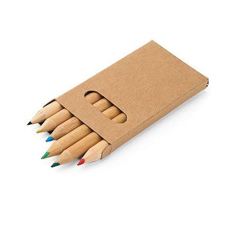 Caixa de cartão com 6 mini lápis de cor Personalizado