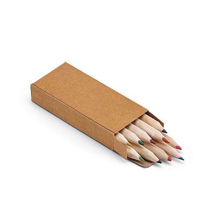 Caixa de cartão com 10 mini lápis de cor Personalizado