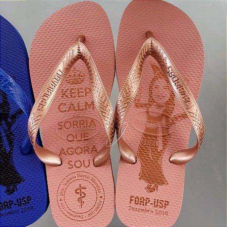 Havaianas Top Rosa Ballet Personalizada