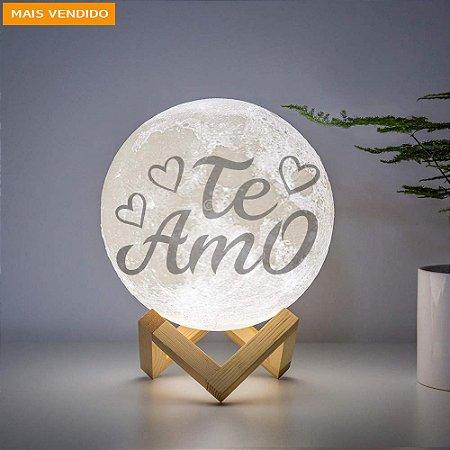 Luminária com frase- Modelo Te Amo
