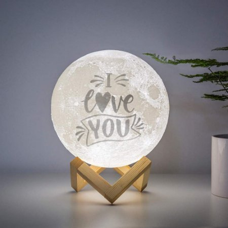 Luminária com frase- I Love You